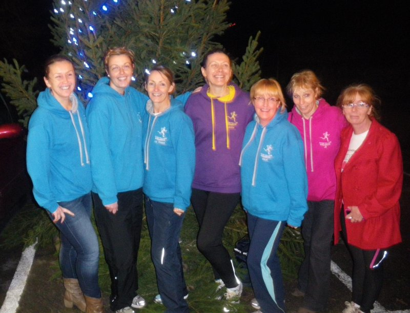 Striders ladies team at Cheddleton Pudding Race (the gents were resting after the ball)