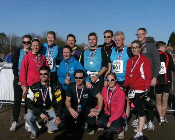 Striders multi-sport team at the Cheshire Duathlon 2011